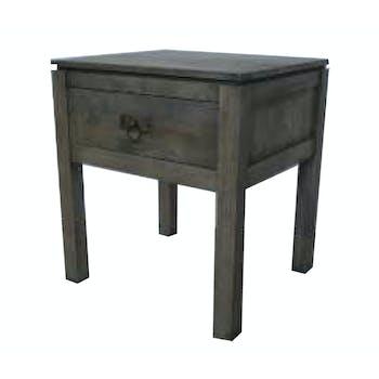 Table de Chevet Hévéa 1 tiroir 45x40x50cm HELENA
