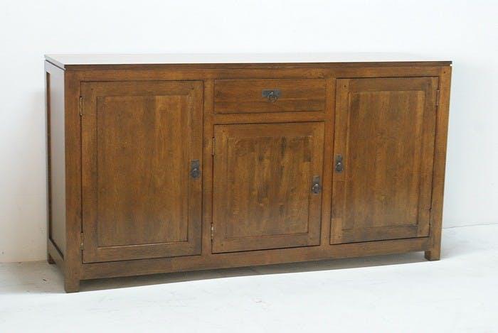 Buffet Hévéa 3 portes, 1 tiroir, 160x45x85cm HELENA