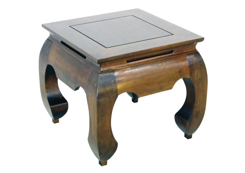 Table basse Opium carrée Hévéa 42x42x40cm MAORI