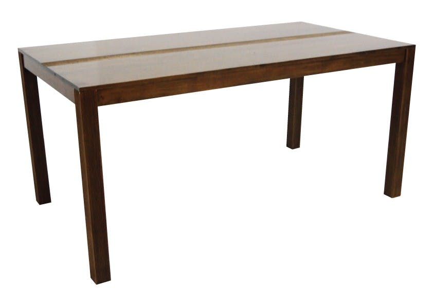 Table de repas rectangle Hévéa 160x85x76cm GALA