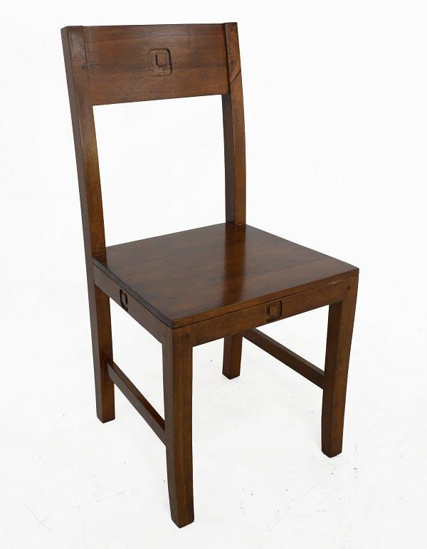 Chaise Hévéa 45x46x90cm TESSA