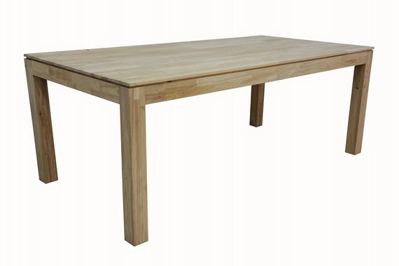 Table de repas rectangle Hévéa 200x100x76cm HELENA