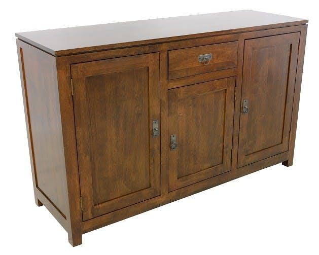 Buffet Hévéa 3 portes, 1 tiroir, 140x45x85cm HELENA