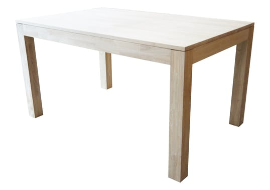 Table de repas rectangle Hévéa 140x90x76cm HELENA