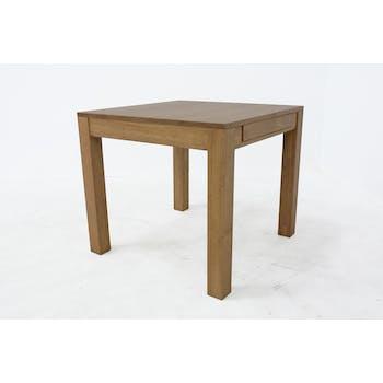 Table de repas extensible Hévéa 85/147x85x76cm HELENA