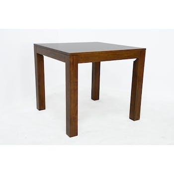 Table de repas carrée Hévéa 85x85x76cm HELENA