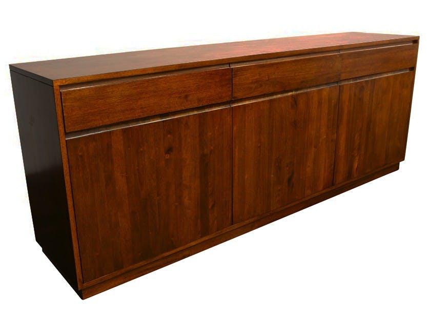 Enfilade / Buffet long Hévéa 3 portes, 3 tiroirs 213x45x81cm BALTIC