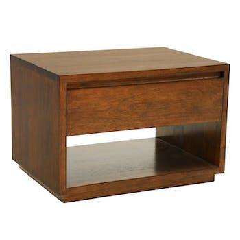 Table de Chevet / Bout de Canapé Hévéa 1 tiroir, 1 niche basse 55x40x40cm BALTIC