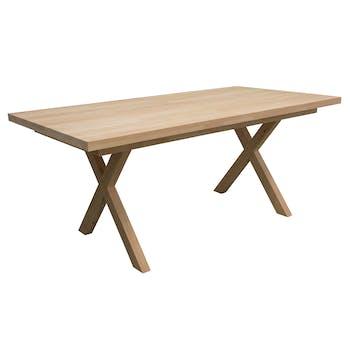 Table de Repas Hévéa avec pieds en croix 180x90x76cm BALTIC