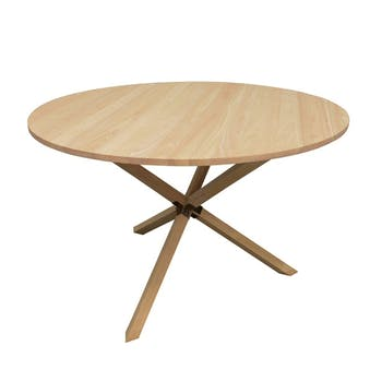 Table de Repas ronde Hévéa avec pieds en croix D120xH76cm BALTIC