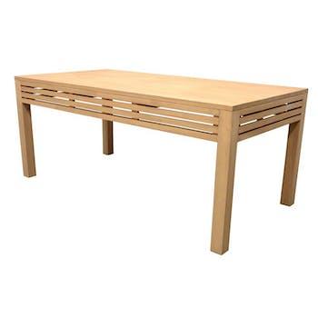 Table de Repas Hévéa façade Persienne 180x90x76cm NEW ORLEANS