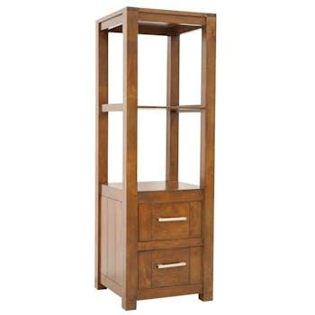 Colonne étagère moderne bois hévéa H151cm ATTAN