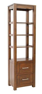 Colonne étagère moderne bois hévéa H190cm ATTAN