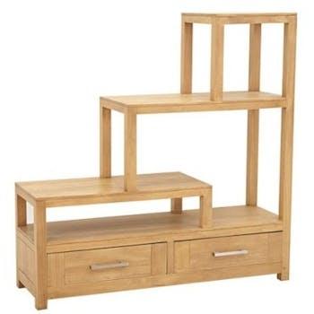 Etagère escalier 2 tiroirs ATTAN 112x35x115cm