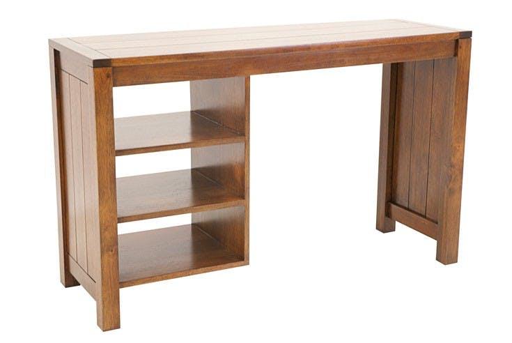Bureau console moderne bois hévéa 120cm ATTAN