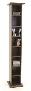 Colonne range CD 7 étages hévéa 24x24x138cm TRADITION