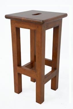 Tabouret carré droit Hévéa 28x28x55cm TRADITION
