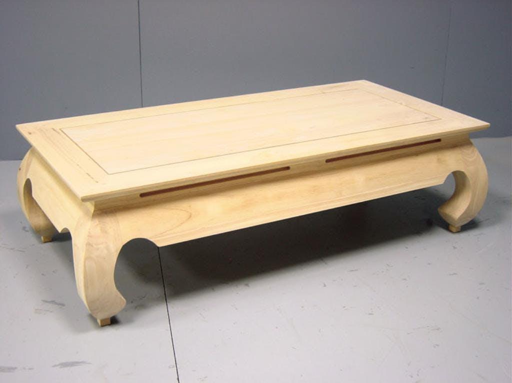 Table basse Opium hévéa 120x60x35cm MAORI