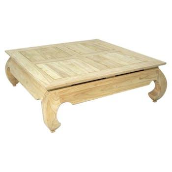 Table basse Opium hévéa 100x100x35cm MAORI