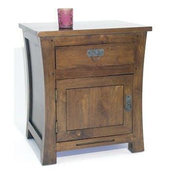 Table de chevet 1 tiroir gauche hévéa 50x42x60cm MAORI