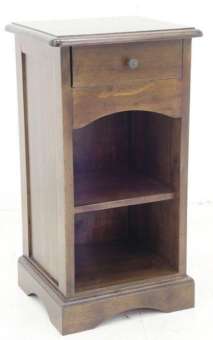 Table de chevet 1 tiroir hévéa 36x32x67cm TRADITION
