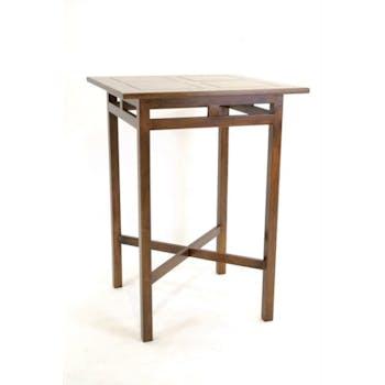 Table bar hévéa 80x80x110cm MAORI