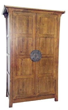 Armoire 2 portes avec penderie hévéa 125x60x196cm MAORI