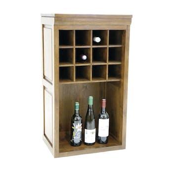 Meuble range bouteilles hévéa 49x38x88cm TRADITION