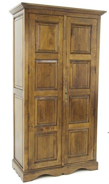 Armoire Hévéa 2 portes 100x50x183cm TRADITION