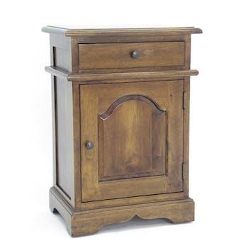 Table de chevet Hévéa 1 porte, 1 tiroir 44x32x65cm TRADITION
