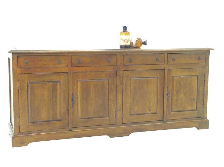 Buffet / Enfilade Hévéa 4 portes, 4 tiroirs 190x48x80cm TRADITION