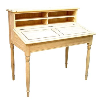 Bureau Pupitre Hévéa 4 niches 110x66x108cm TRADITION