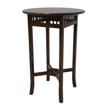 Table de Bar Hévéa pieds croisés D70xH110cm MAORI
