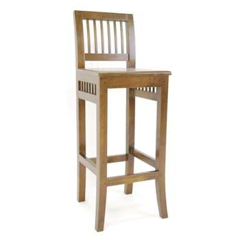 Chaise de Bar Hévéa 38x41x105cm MAORI