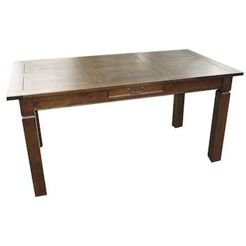 Table de repas Hévéa 1 tiroir 160x85x76cm MAORI