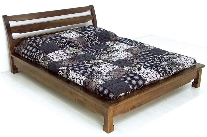 Lit 2 places façon futon Hévéa pour couchage 140x190 214x157x80cm MAORI