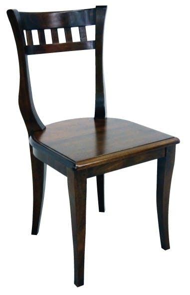 Chaise Hévéa style colonial 44x49x89cm MAORI