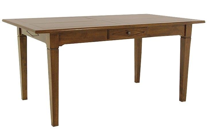 Table de repas Hévéa 1 tiroir 160x90x76cm TRADITION