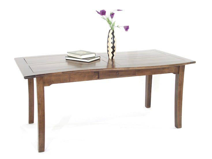 Table de repas Vague Hévéa 2 tiroirs 180x90x76cm TRADITION