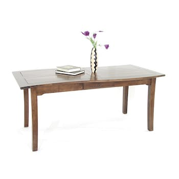 Table de repas Vague Hévéa 2 tiroirs 180x90x76cm TRADITION