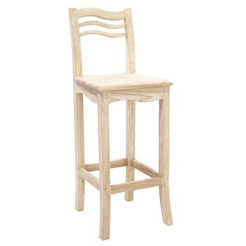 Chaise de bar Vague Hévéa 38x41x105cm TRADITION