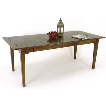 Table de repas Hévéa 2 tiroirs 200x90x76cm MAORI TRADITION