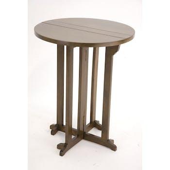 Table d'appoint / Table de repas pliable Hévéa D60x75cm TRADITION