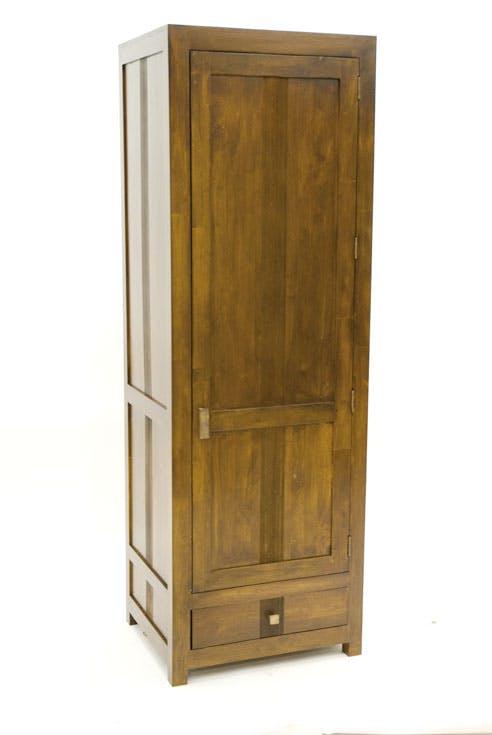 Armoire Bonnetière Hévéa 1 porte, 1 tiroir 65x55x195cm GALA