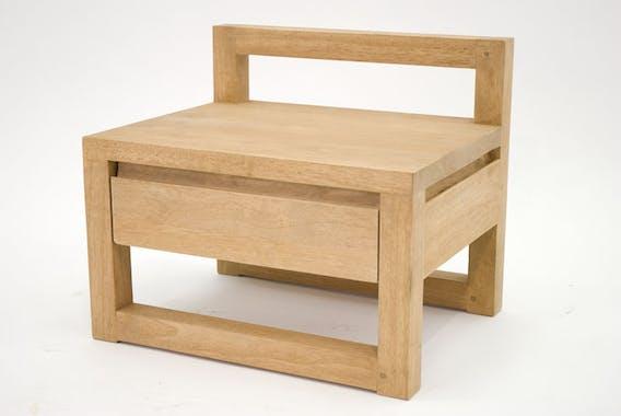 Bout de canapé / Chevet Hévéa 1 tiroir 50x40x42,5 OLGA