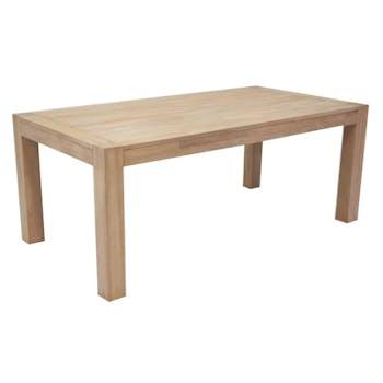 Table de repas Hévéa extensible 190/250x100x76cm ATTAN