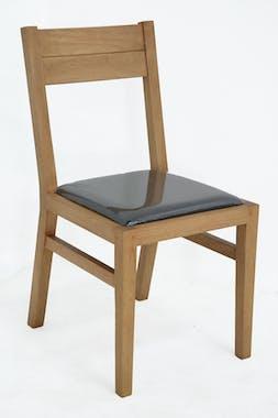 Chaise Hévéa avec assise mousse 42x50x84cm ATTAN