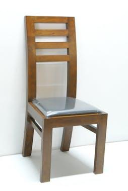 Chaise Hévéa assise mousse 45x49x100cm OLGA