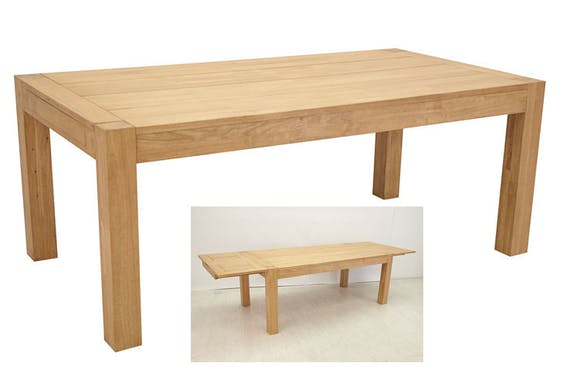 Table de repas Hévéa extensible 190/290x100x76cm ATTAN