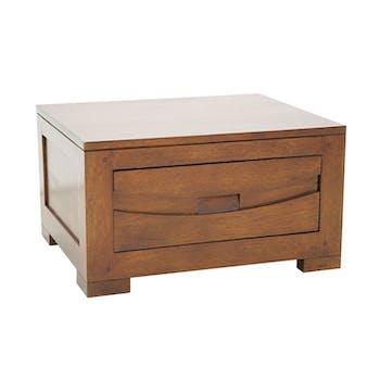 Bout de canapé / Chevet Hévéa 1 tiroir 50x40x28cm NIAGARA